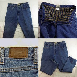 Mens LL Bean Flannel Lined Classic Fit Jeans 36x29